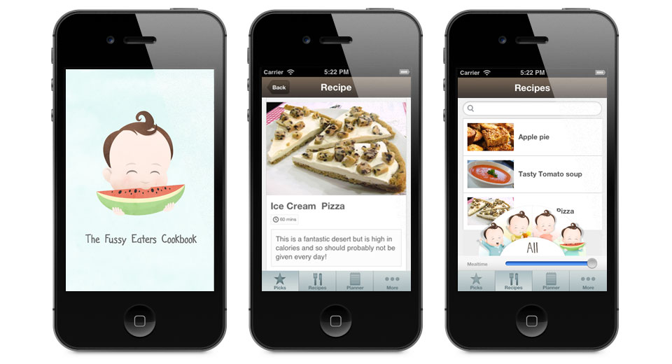The Fussy Eater's Cookbook for iPhone